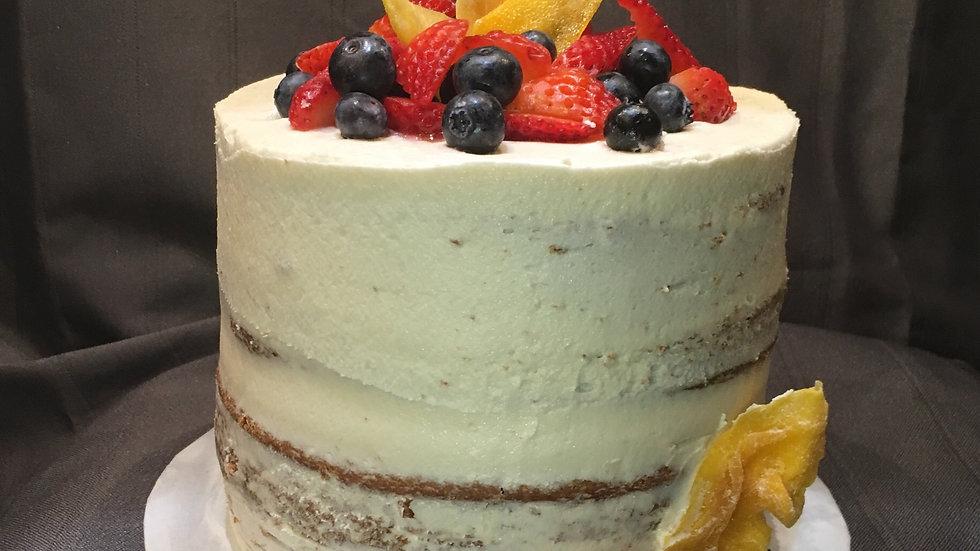 GF Naked Vanilla Cake