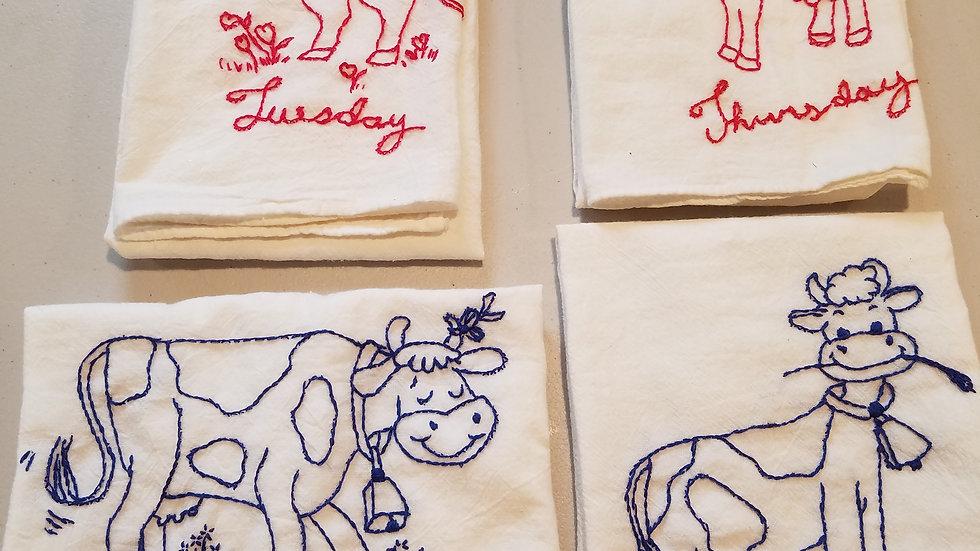 """Cow"" Hand Towel"