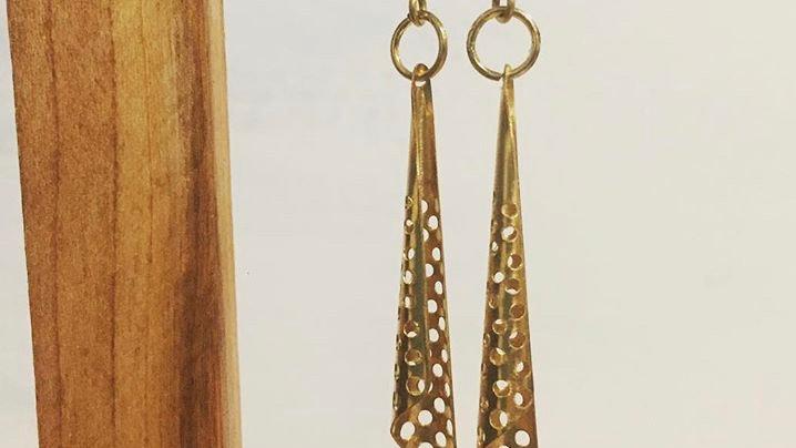 Intricate Brass Earrings