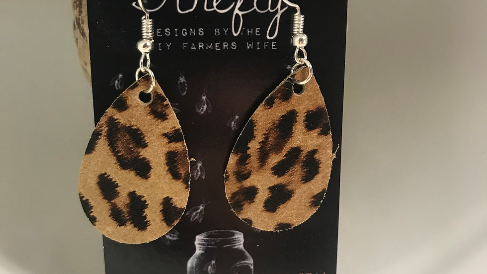 Cheetah Mini Leather Petals