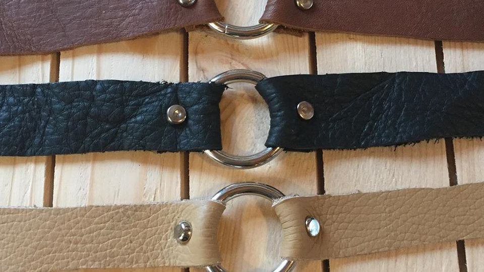 Open Form Real Leather Bracelet