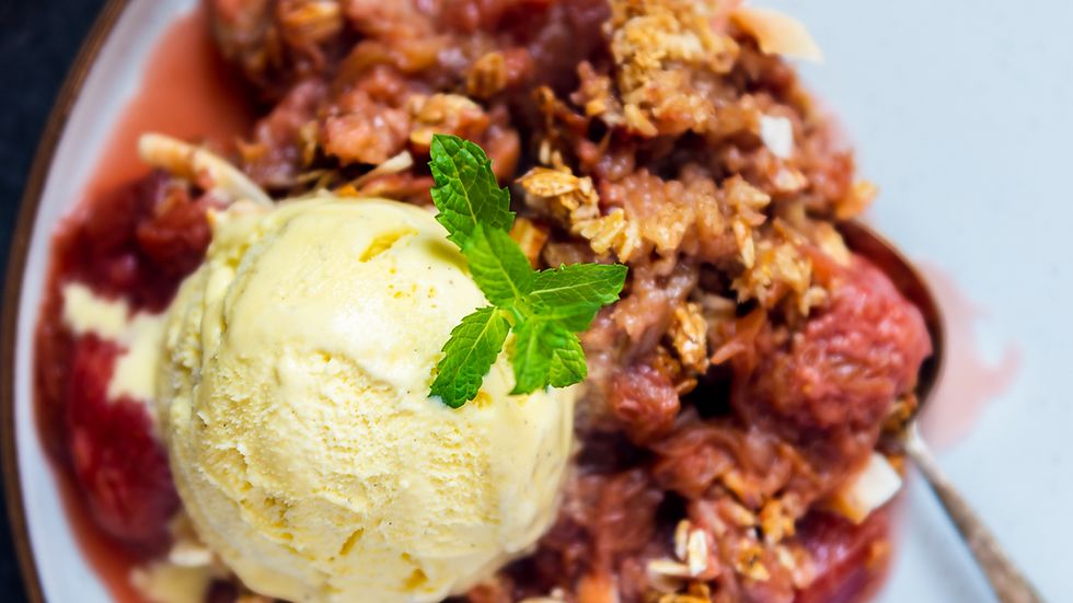 Strawberry Crumble Pie + Vanilla Ice Cream Pint