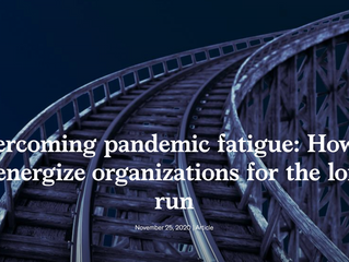 Overcoming Pandemic Fatigue - McKinsey