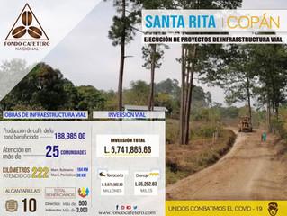 FCN realiza obras de infraestructura vial en Santa Rosa de Copán