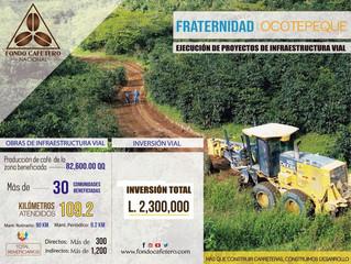 FCN Realiza importantes obras de terracería en Fraternidad Ocotepeque