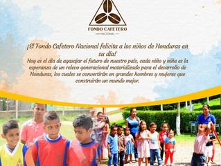 El Fondo Cafetero Nacional felicita a los niños de Honduras en su día.