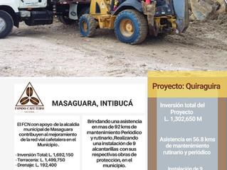 Fondo CafeteroNacional con el apoyo de la Municipalidad de Masaguara brinda asistencia la red vial
