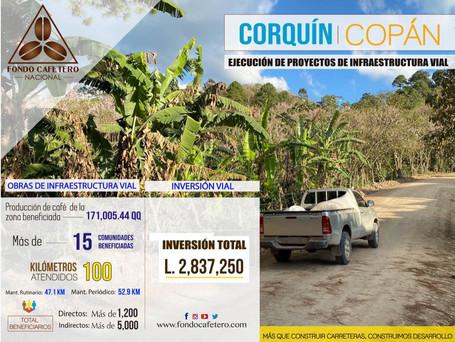 FCN Realiza importantes obras de infraestructura en Corquín, Copán