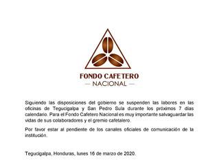 El Fondo Cafetero Nacional Comunica.
