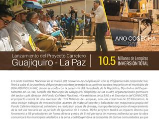 Gobierno de la República y Fondo Cafetero Nacional lanza proyecto carretero en  La Paz