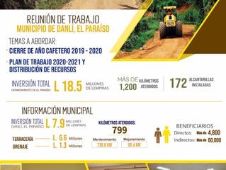 Fondo Cafetero Nac. junto a la dirigencia gremial de Danlí brinda informe de ejecución 2019-2020