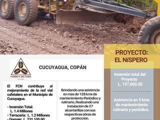 Fondo Cafetero Nacional brinda asistencia en la red vial cafetalera de Cucuyagya, Copán