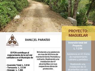Fondo Cafetero Nacional realiza importantes obras en Danlí, El Paraíso