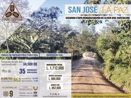 FCN Realiza importantes obras de terracería en San José, La Paz