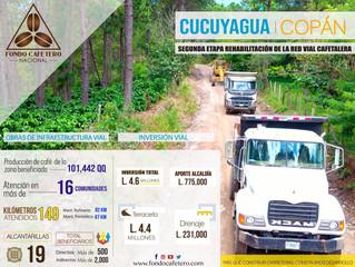 FCN Inicia la II tapa de rehabilitación de la red vial Cafetalera en Cucuyagua Copán