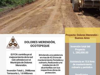 Fondo Cafetero Nacional brinda asistencia vial a más de 42 km, en Dolores Merendón, Ocotepeque