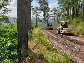 FONDO CAFETERO NACIONAL implementa novedoso proceso de estabilización de suelo en carretera de Comay