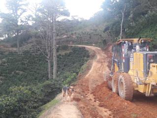 Fondo Cafetero Nacional realiza obras de Terracería en la Comunidad de las Delicias, Cantarranas, Fr