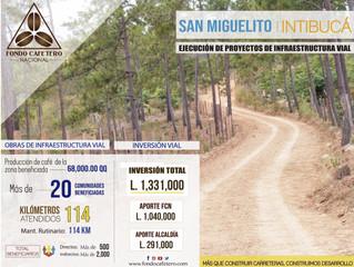 Fondo Cafetero Nacional Realiza importantes obras de infraestructura vial en San Miguelito, Intibucá