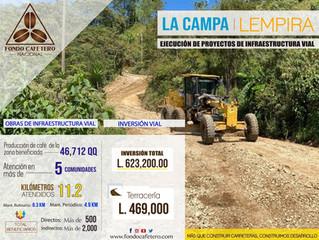 Fondo Cafetero Nacional realizar obras de infraestructura vial en La Campa, Lempira