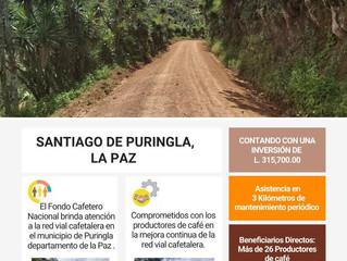 Fondo Cafetero Nacional brinda atención a la Red vial cafetalera en Santiago de Puringla, La Paz.