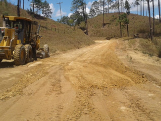 Fondo Cafetero Nacional realiza obras de terracería en Guaimaca Francisco Morazán
