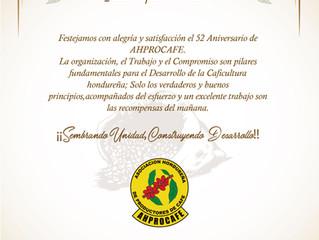 EL FONDO CAFETERO NACIONAL SALUDA A AHPROCAFE EN SU 52 ANIVERSARIO