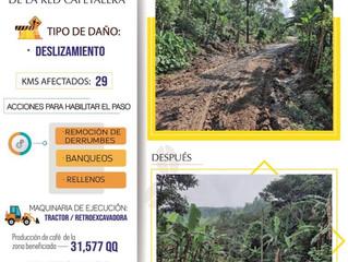 FCN Realiza importantes obras de rehabilitación de caminos en San José Colinas, Santa Bárbara