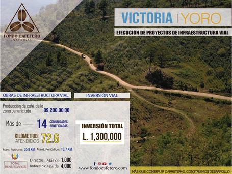 Fondo Cafetero Nacional Realiza Obras en red vial cafetalera de Victoria, Yoro