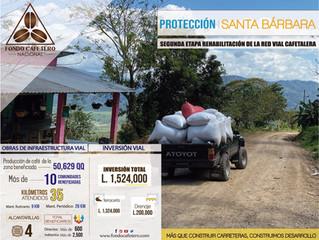 FCN Realiza importantes obras de mantenimiento vial en el Municipio de Protección Santa Bárbara