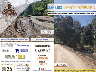 Fondo Cafetero Nacional realiza importantes obras en San Luis, Santa Bárbara