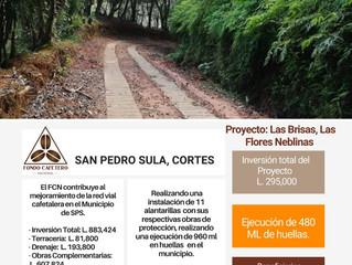 Fondo Cafetero Nacional realiza proyectos en la red vial cafetalera de San Pedro Sula