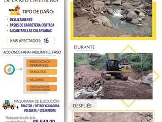 FCN realiza obras de rehabilitación vial en zonas cafetaleras de San Rafael Lempira