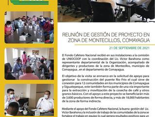 Fondo Cafetero Nacional Afina detalles para ejecución de proyectos en zona Montecillos Comayagua