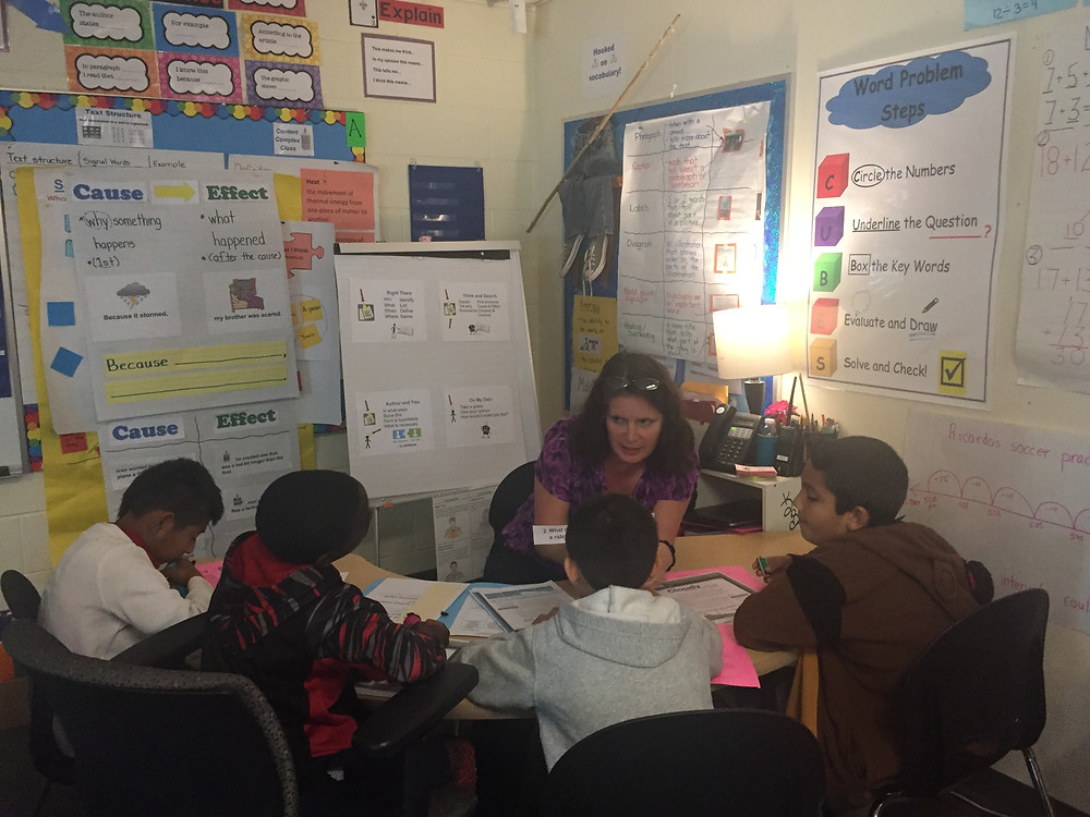 CSR Residency - 3rd Grade Teacher modeling QAR using flashlights in her Guided Reading Small Group. We are working on setting up an environment conducive for learning!
