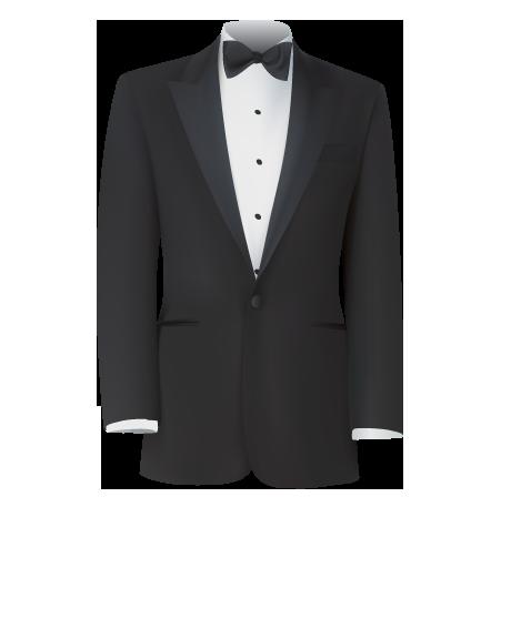 traje novio negro