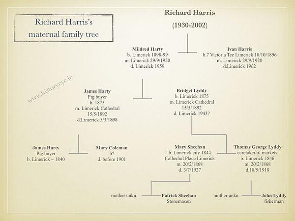 Richard Harris Maternal Family