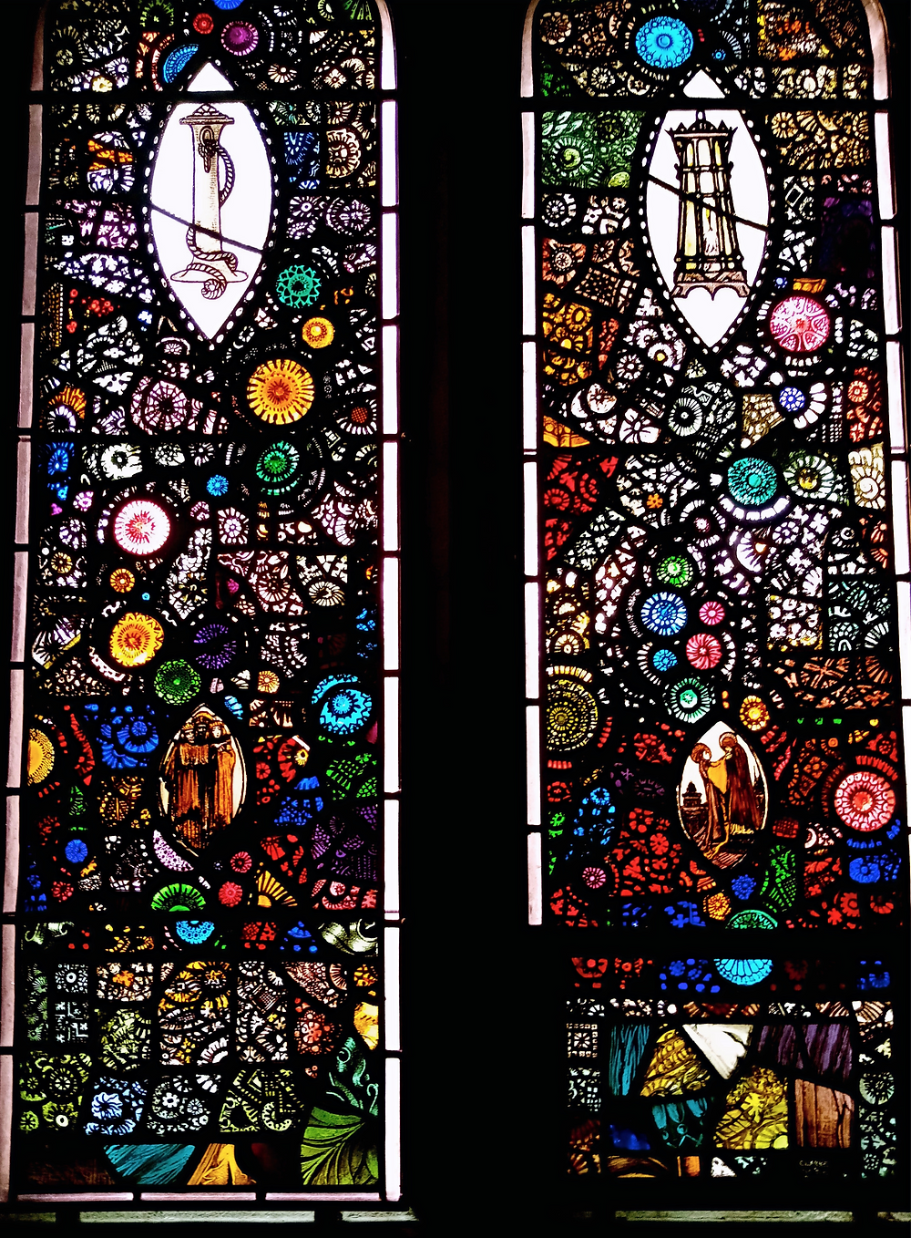 Historyeye | Harry Clarke's decorative windows at St. Peter's Church Phibsboro Dublin