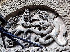 Historyeye | Kilmainham Gaol chained serpents main door Octave Fariola