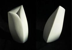 Joy -  h 19,6 x 12 x 7,2 cm  bianco P marble  2017