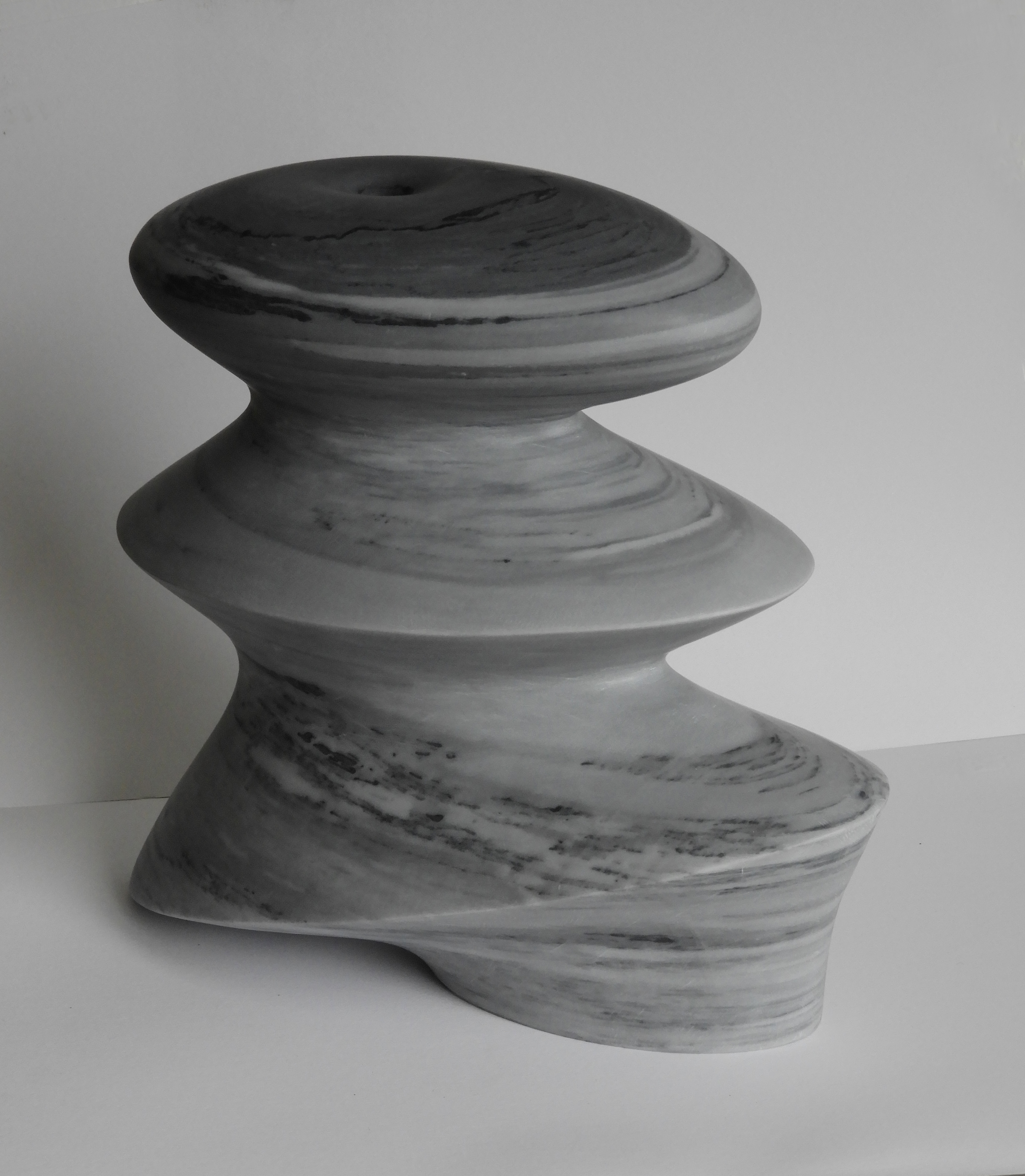 Revive - h 27 x 29 x 14 cm  bardiglio marble 2020