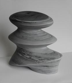 Revive - h 27 x 29 x 14 cm  bardiglio marble 2020