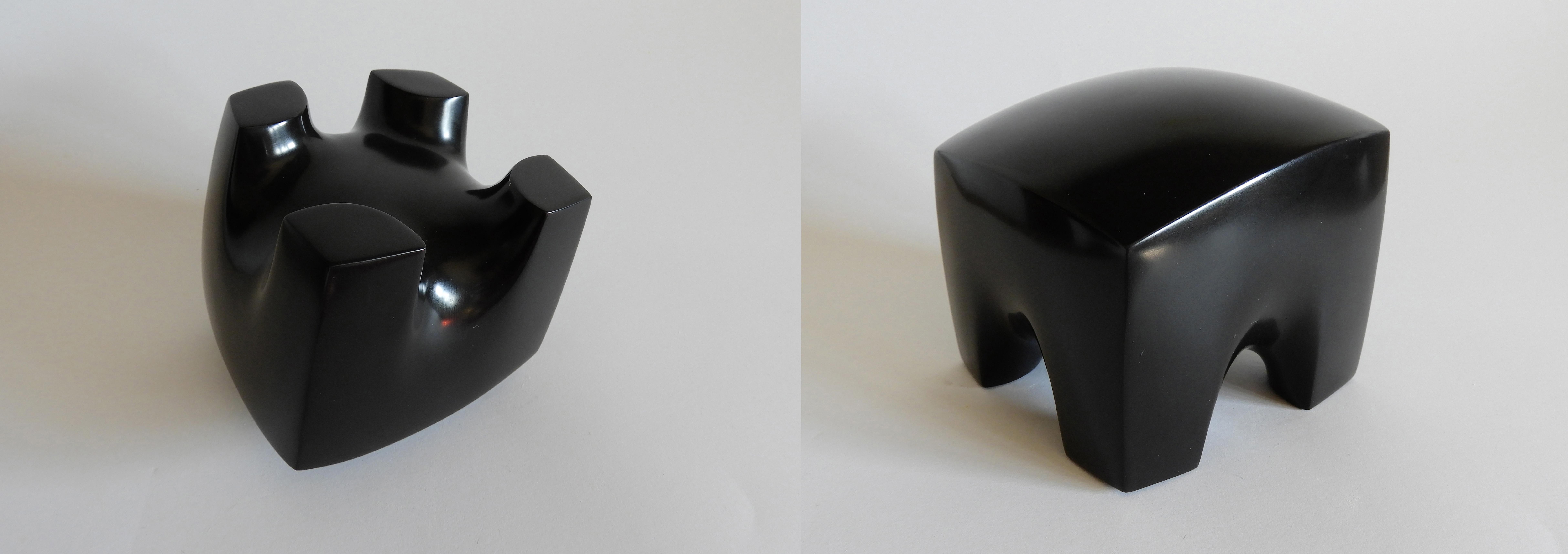 Gravity - h 9 x 11 x 11 cm  black belgian marble  2018
