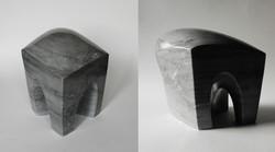 Fixed exchange  - h 19 x 18 x 15 cm bardiglio marble 2019