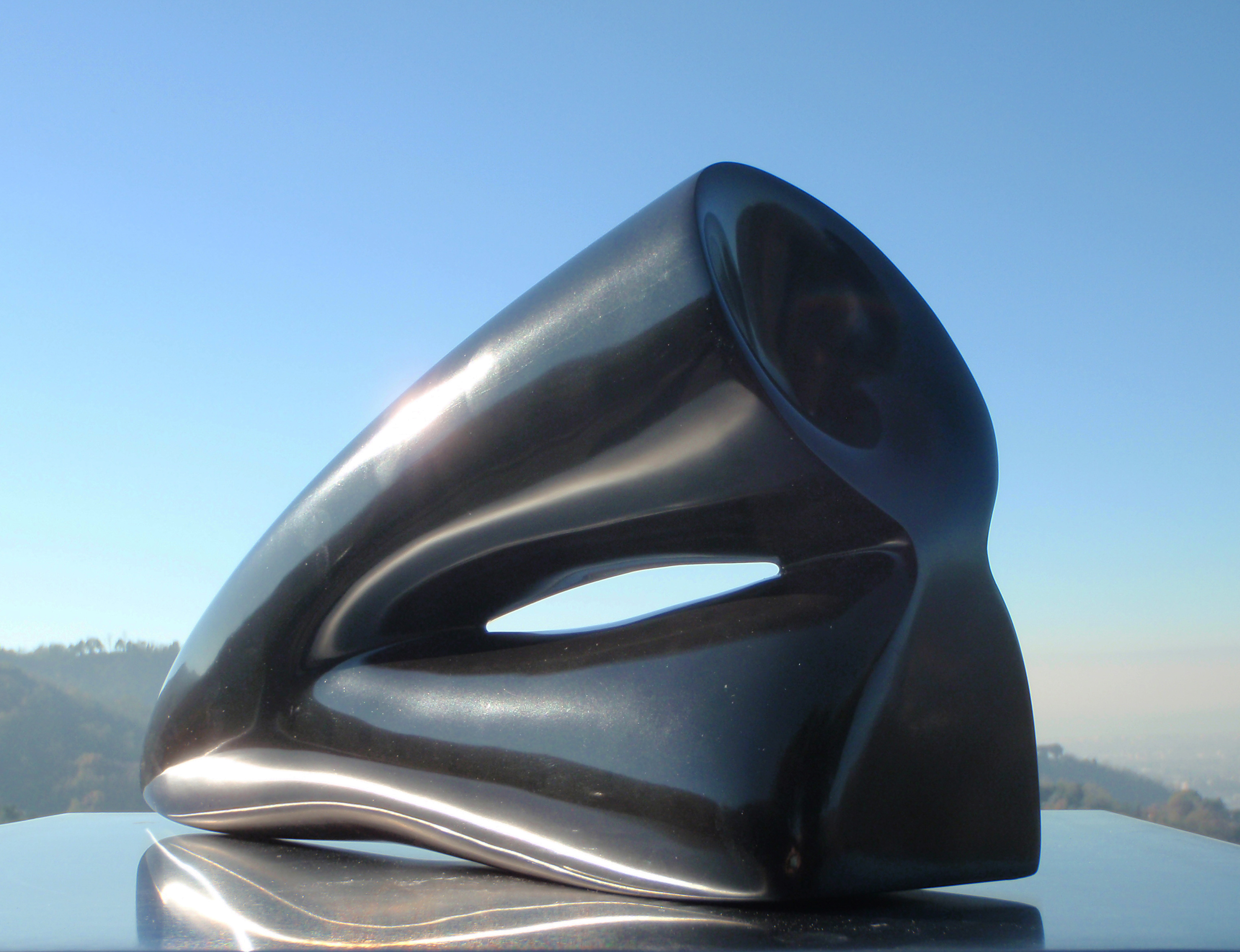 Reverse - h 19 cm black belgian marble  2013