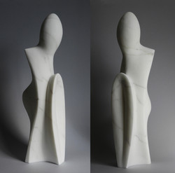 Light and matter - h 56 x 12 x 16 cm  statuario marble  2021
