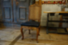 PolsterArt Leder Stuhl mit Leder und Gef
