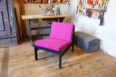 PolsterArt Sessel Pink 20er Jahre Bauhau