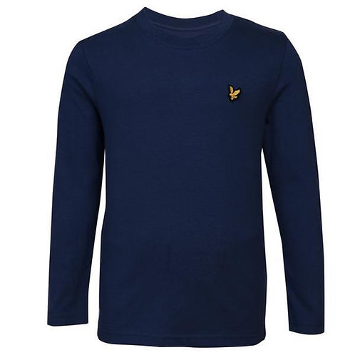 LYLE & SCOTT - JR T-shirt ML Navy