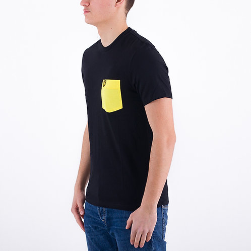 LYLE &SCOTT - T-shirt Taschino Nero/giallo